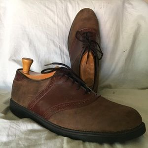 Nunn Bush saddle shoes men's 10 brown leather